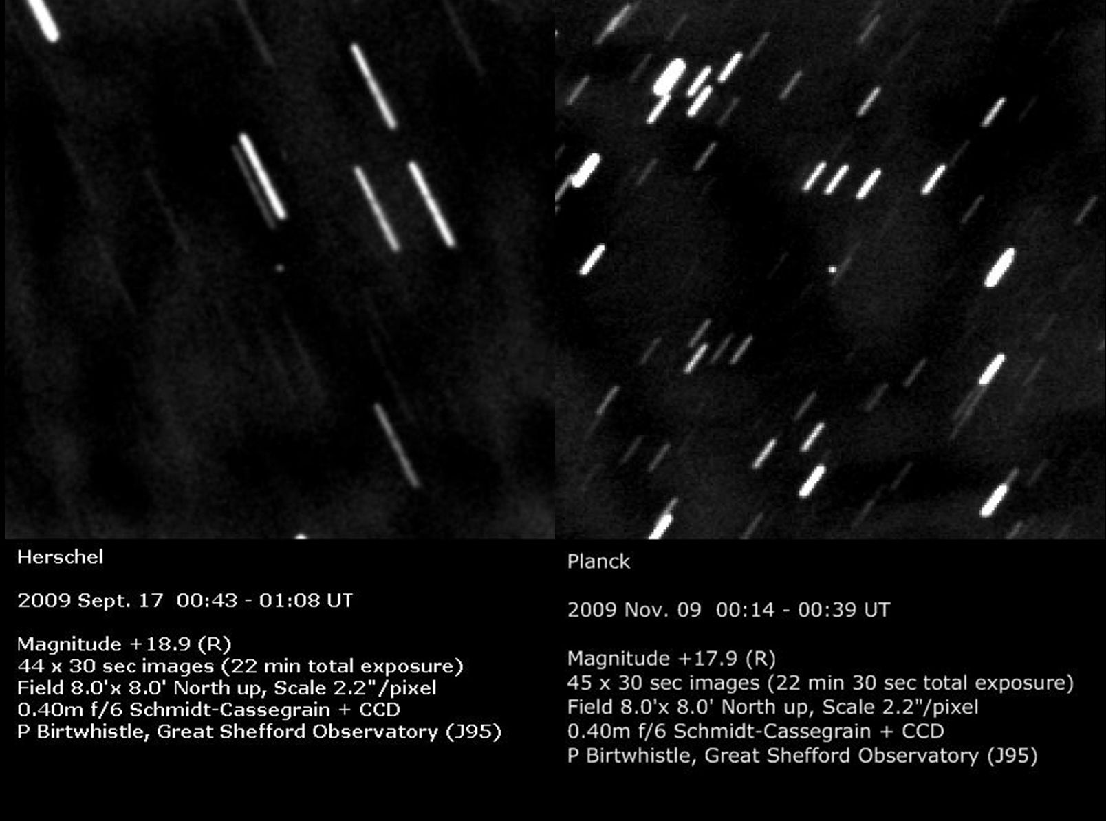 Images of Herschel and Planck